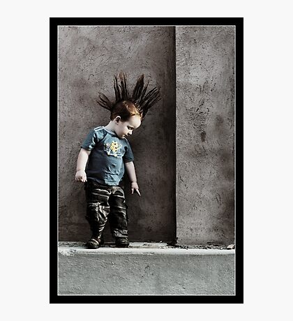 Punx not dead ... he just hasn't grown up yet.. Photographic Print