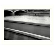 Paris by Bus - Quai de Seine - Art Print