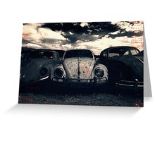 The Three Amigos: VW Beetle Graveyard, Wales, UK Greeting Card