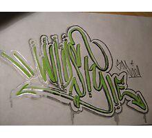 graffiti piece   (wildstyle) Photographic Print