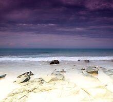 Water crashing over rocks  by joshsilver95