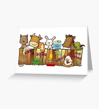 ALL PETS GREAT AND SMALL Greeting Card
