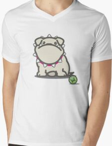 Brit the British Bulldog Mens V-Neck T-Shirt