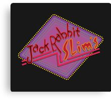 Jack Rabbit Slim's Sign Canvas Print