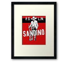 Sandino Tee Framed Print