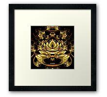 Xzendor7 A Golden Fractal Fantasy Framed Print