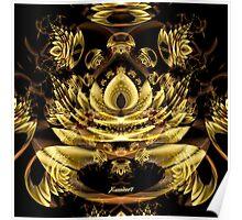 Xzendor7 A Golden Fractal Fantasy Poster