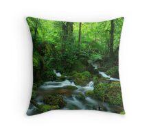 the green escape Throw Pillow