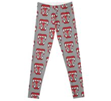 Halloween Horror MONSTER TEETH! chomp! Leggings