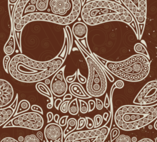 Skull pattern Sticker