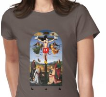 Buttress O'Kneel - Mickey Christ... Womens Fitted T-Shirt