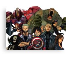 One Piece Marvel Canvas Print