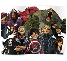 One Piece Marvel Poster