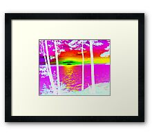 Sunset at Lake CatchaComa-Nice n Pink-Available As Art Prints-Mugs,Cases,Duvets,T Shirts,Stickers,etc Framed Print