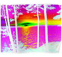 Sunset at Lake CatchaComa-Nice n Pink-Available As Art Prints-Mugs,Cases,Duvets,T Shirts,Stickers,etc Poster