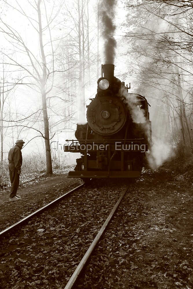 riding back in time by Christopher  Ewing