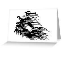 Abstract Dirt Bike Greeting Card