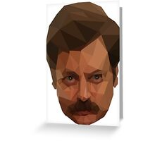 Ron Swanson Low Poly Greeting Card