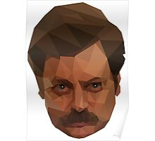 Ron Swanson Low Poly Poster
