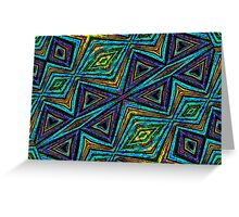 Tribal Style Colorful Geometric Pattern Greeting Card