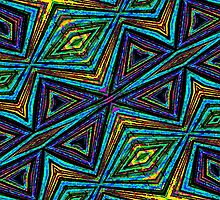 Tribal Style Colorful Geometric Pattern by DFLC Prints