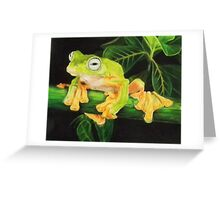 Musky Flying Frog Greeting Card