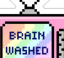 Brain washed TV Tumblr Sticker