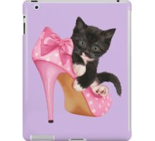 Cute Kitten with Shoe iPad Case/Skin