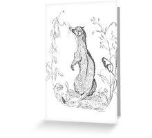 Weasel Greeting Card