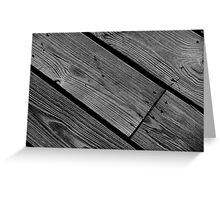 Planks (3) Greeting Card