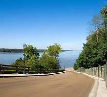 Mississippi River at Natchez by Bonnie T.  Barry