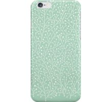 Mint Berry Branches iPhone Case/Skin