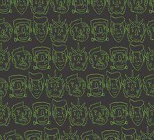Monster Mash- Green by Timwhodraws