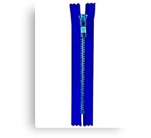 Blue zip Canvas Print