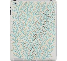 Turquoise & Gold Berry Branches iPad Case/Skin