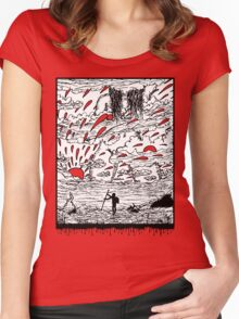 Mother Nature Sees All Women's Fitted Scoop T-Shirt