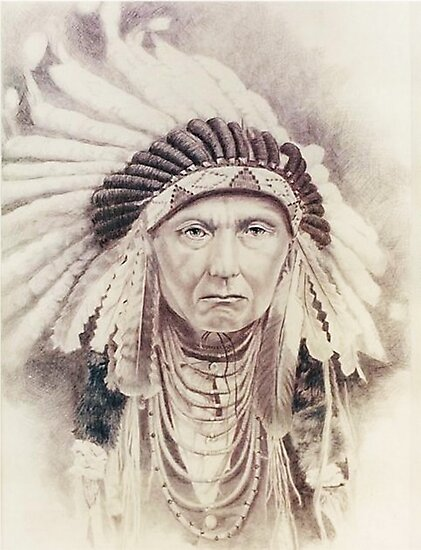 Chief Red Cloud by BarbBarcikKeith
