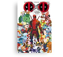 Deadpool and Unicorn Marvels Canvas Print