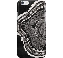 Woodblock Tree Rings iPhone Case/Skin