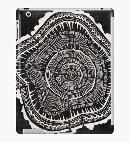Woodblock Tree Rings iPad Case/Skin