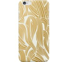 Gold & White Pattern iPhone Case/Skin