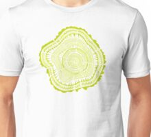 Chartreuse Tree Rings Unisex T-Shirt