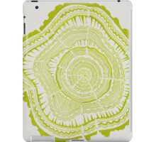 Chartreuse Tree Rings iPad Case/Skin