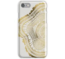 Gold Tree Rings iPhone Case/Skin