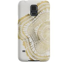 Gold Tree Rings Samsung Galaxy Case/Skin