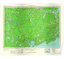 Maine USGS Historical Map Fredericton 707359 1963 250000 Poster