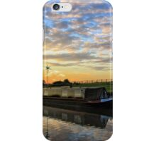 Narrowboat on the Oxford Canal iPhone Case/Skin