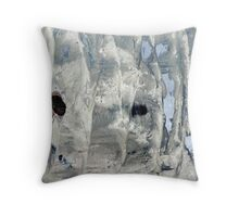world on a wall  Throw Pillow