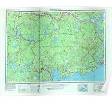 Maine USGS Historical Map Fredericton 806705 1957 250000 Poster