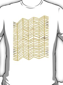 Gold Herringbone T-Shirt